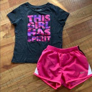 Nike Shorts & Layer 8 Shirt